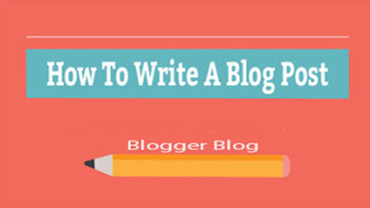 Write A Blog Post on Blogger Blog