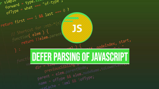 defer parsing of javascript